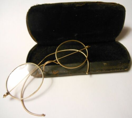 STOCO Antique Gold Wire Glasses 1/10 12K Eyeglasse
