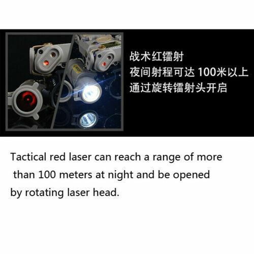 Tactical Airsoft PEQ15 M3X Dual Control Red Laser Indicator /& HK416 Flashlight