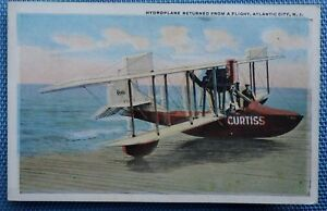 Hydroplane-in-Atlantic-City-New-Jersey-Postcard