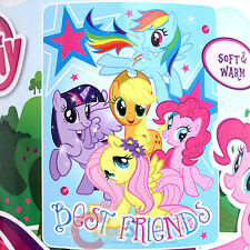 "My Little Pony Plush Blanket  Microfiber Raschel Throw -Best Friends 46""x60"""