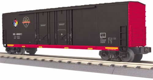Norfolk Southern MTH 30-74875 O Gauge RailKing 50/' Double Door Plugged Boxcar