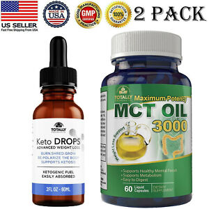 Advanced Keto Diet Drops Weight Loss Fat Burn Maximum Potency MCT Oil Capsules