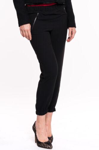 Gaudi-Pantalon noir slim fit Femmes Trousers Jeans