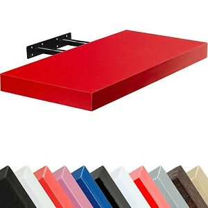 Stilista-Tableau-mural-034-VOLATO-034-Etagere-CD-DVD-110cm-Rouge-flottant