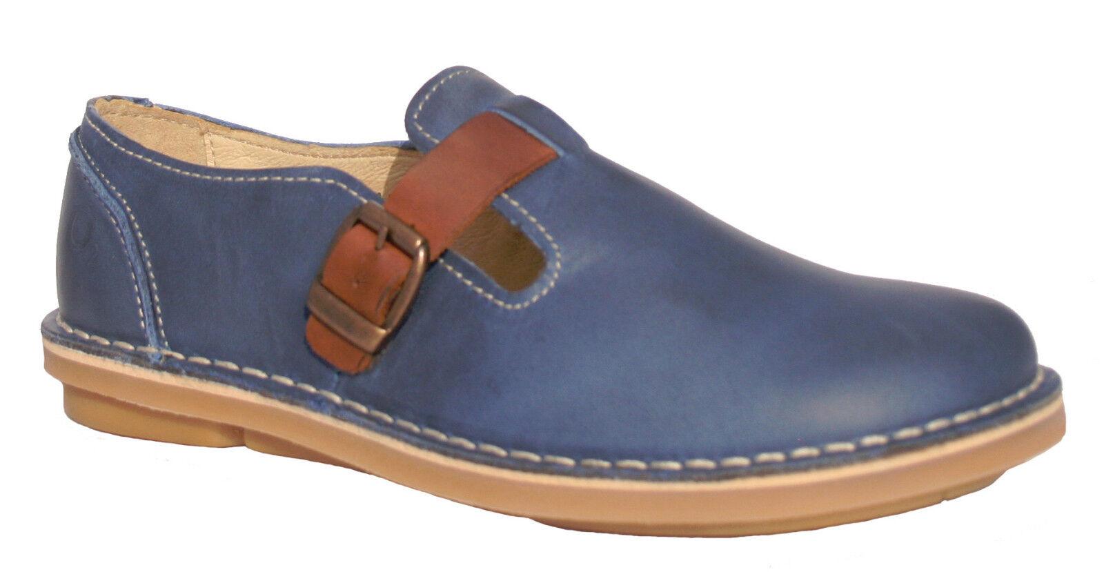 Oxygen Stitch Down 36 T Bar Schuhe CASCAIS Blau Größes 36 Down to 41 (UK 3-7.5) 231829