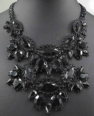 pentand Crystal Bib Statement charm chunky colorful collar Chain  Necklace 911
