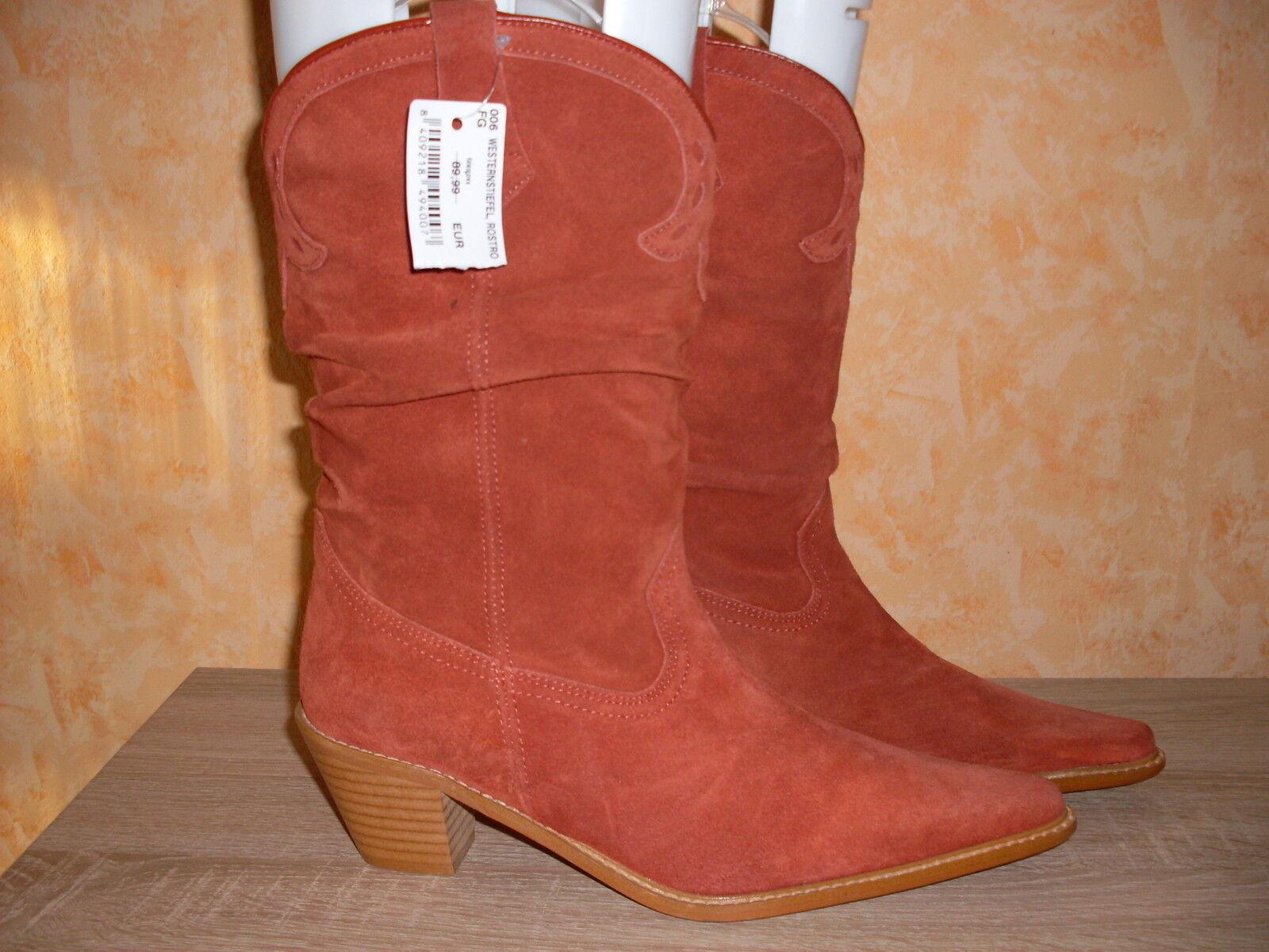 Botas vaqueras botas botas de vaquero nuevo talla gamuza 40 en rostrot & gamuza talla cuero 607b52