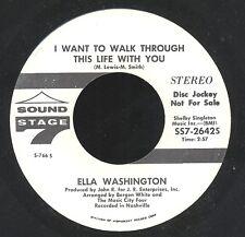 ELLA WASHINGTON 'I Want To Walk Through This Life' [LISTEN!] 1969 Soul Promo 45