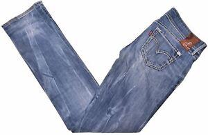 Levi-039-s-Damen-Jeans-w26-l32-blau-Baumwolle-Straight-Fit-di08