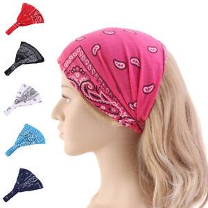 Women-Head-Scarf-Bandana-Elastic-Floral-Headband-Wrap-Accessories-Casual-Gift
