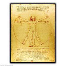 PLACCA di Metallo Segno Muro Uomo Vitruviano Leonardo Da Vinci poster art print PICTURE