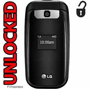 Brand-New-Factory-Unlocked-LG-GSM-Flip-Basic-Phone-Bluetooth-3G-AT-amp-T-T-Mobile