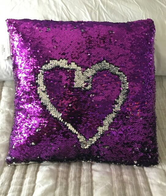 Pink Gold Sequin Pillow Mermaid Magic Glitter Reversible Color Changing 16/'/' #15