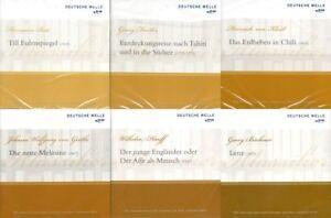 MEGA-Hoerbuchpaket-Deutsche-Klassiker-6-CDs-Goethe-Kleist-Hauff-u-a