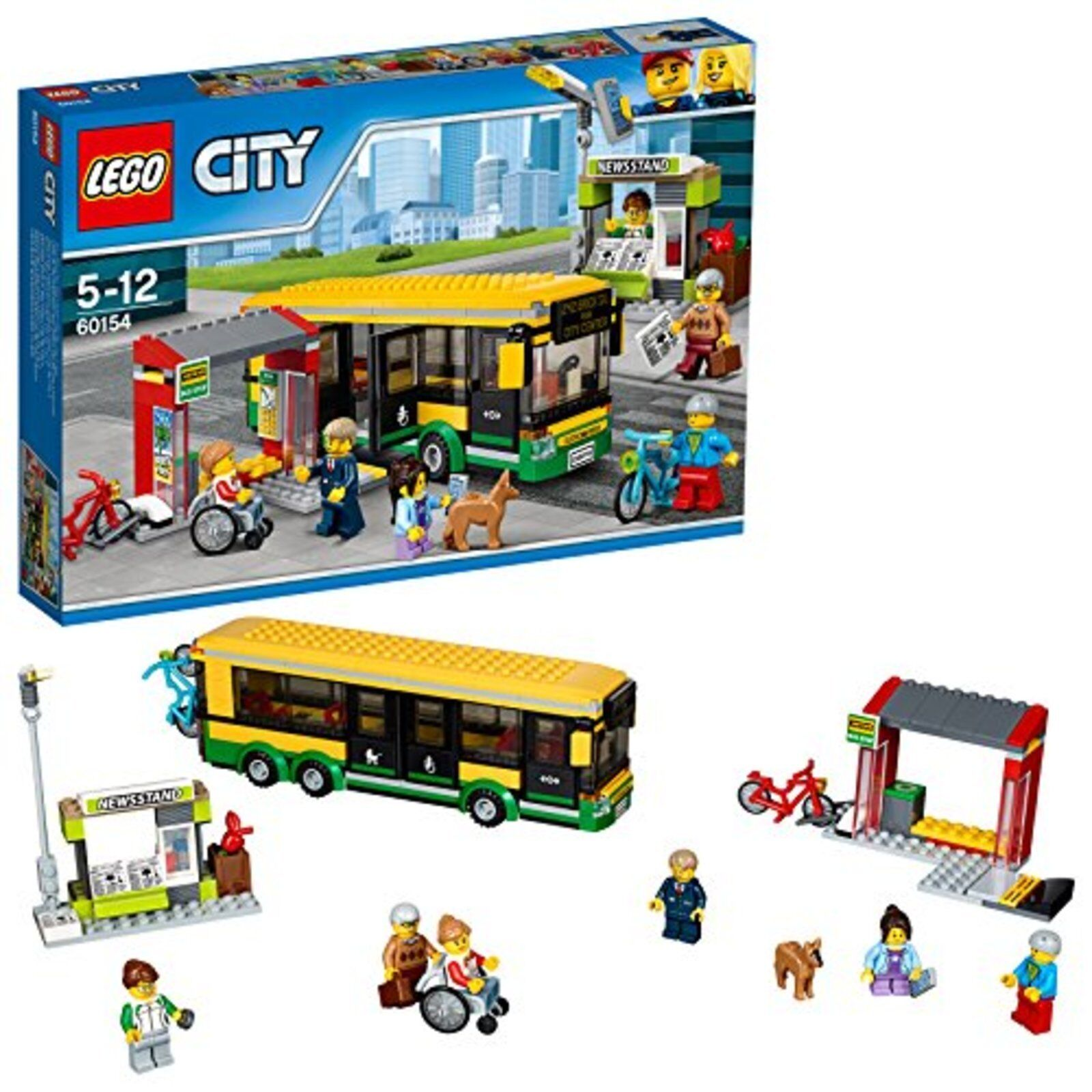LEGO city bus stop 60154 Free Shipping with Tracking number New from Japan