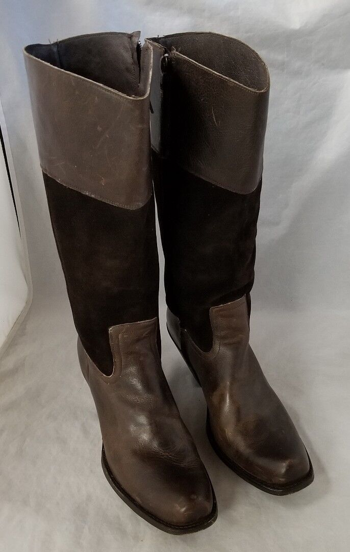 Vintage Corral Womens Boots Dark Brown Suede & Leather 9M Cowboy Boots Mexico