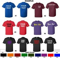 Custom T-shirt Personalized S-5xl Any Color Your Text Name Print Customized