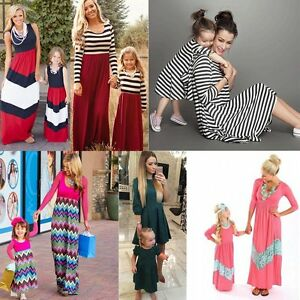 Image is loading Family-Clothes-Mother-Daughter-Beach-Dresses-Womens-Kids- 6dc5250b47