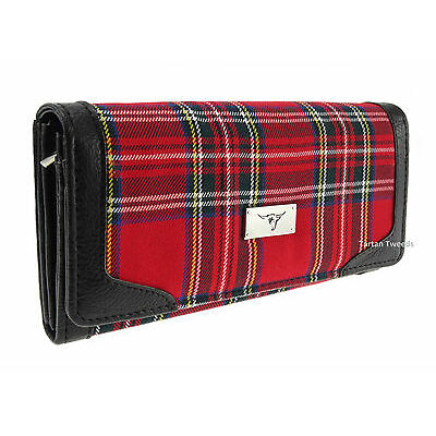 Ladies Long Wallet Purse Royal Stewart Red Tartan TB8000