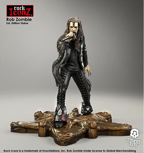 Knucklebonz Rob Zombie Rock Iconz Statua In Resina 20 cm Edizione Limitata