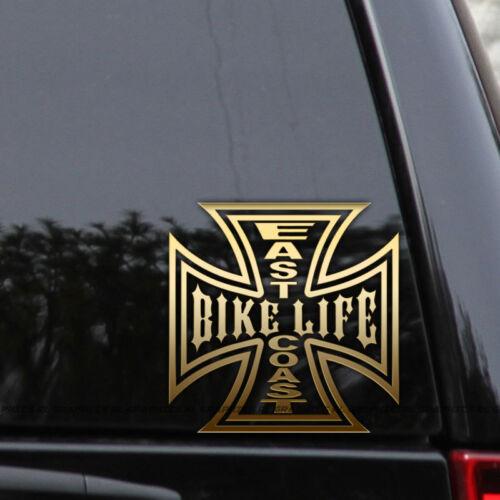 East Coast Bike Life Decal Sticker Biker Harley Chopper Window Laptop Truck Car