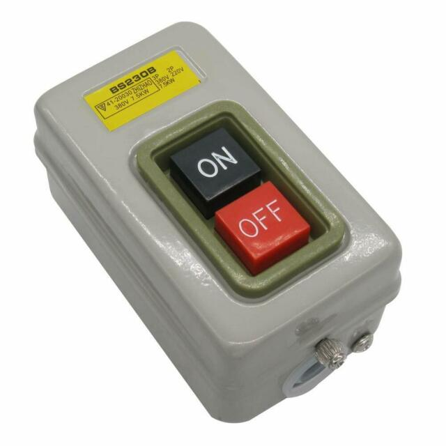 220V//380V 10A ON//OFF 3 Phase NO NC Maintained Pushbutton Push Button Switch