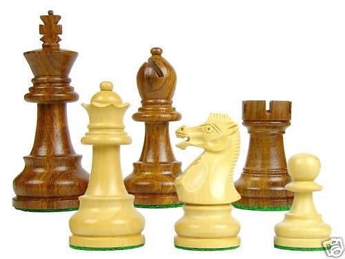 Wooden Staunton Chess Pieces Sovereign 3.25  - Dbl. Qns