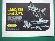 6/1978 PUB VALMET OY DEFENSE FINLANDE FINNLAND FINLAND ARMY ORIGINAL GERMAN AD