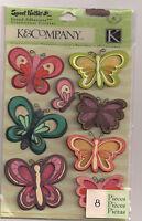 K&company Sweet Nectar Modem Butterflies 3d Stickers