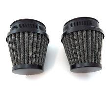 Black Pod Air Filter - 50mm Set of 2 - Honda CB350 CB360 CB450 CB500T CB CL