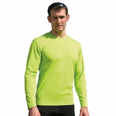 Spiro Spiro Quick Dry Long Sleeve T-Shirt S254M Mens Performance Sports Wear Top