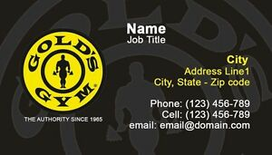 250 golds gym business cards full color shipping design image is loading 250 golds gym business cards full color shipping reheart Image collections
