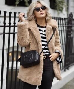 TOPSHOP-BLOGGERS-FAVE-CAMEL-LUCY-TEDDY-FAUX-FUR-BORG-OVERSIZED-SHORT-COAT-UK-8