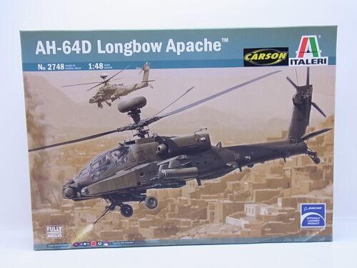 "LOT 47671Italeri No 2748 /""AH-64D Longbow Apache/"" 1:48 Bausatz NEU in OVP"