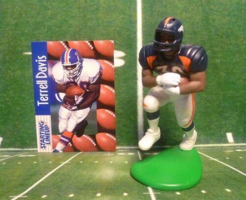 1997  TERRELL DAVIS -Starting Lineup DENVER BRONCOS Figure /& Card SLU