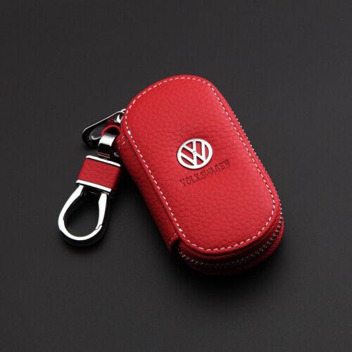 Cowhide Genuine Leather Car logos Keyring Key chain Bag Keyfob Pendant Case Bag