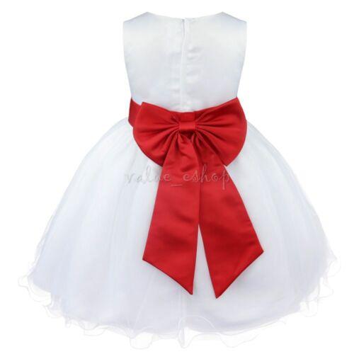 Flower Girl Dress Wedding Formal Pageant Recital Graduation Bridesmaid Communion