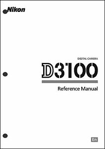 nikon d3100 user manual guide instruction operator manual ebay rh ebay com d3100 user manual pdf nikon d3100 user manual pdf