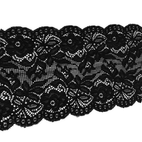 5 Yards 14cm Stretch Lace Fabric Floral Elastic DIY Craft Clothing Accessory