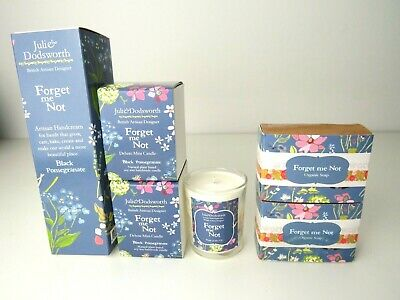 New Julie Dodsworth Forget Me Not, candles, soap and hand cream set,   eBay