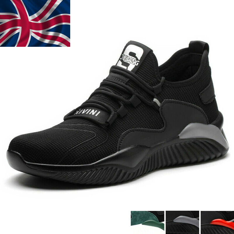 Mens Lightweight Steel Toe Cap Safety Trainers Women Work Shoes Hiking Boots