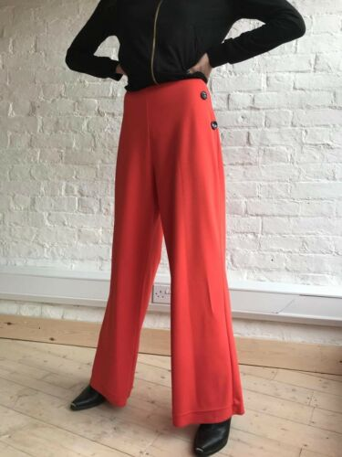 STUNNING DESIGNER LADIES WIDE LEG TROUSERS PALAZZO LOOSE FIT BRAND NEW