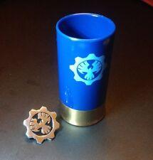 Gears of War 4 - Gnasher Shotgun Shell Casing COG Shot Glass + Phoenix Pin Badge