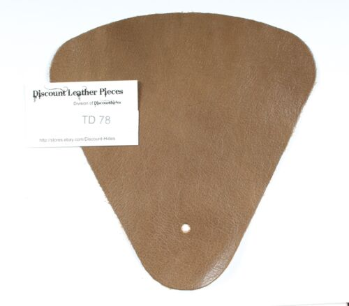 Mushroom Brown Scrap Leather Craft Piece aprox .25 sqft  TD78