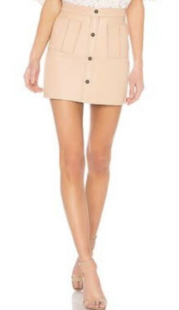 Designer Aje Blush Leather Skirt S12