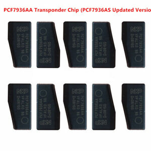 10PCS Car Key Chips,PCF7936A<wbr/>A ID46 (PCF7936AS Updated) Blank Transponder Chip