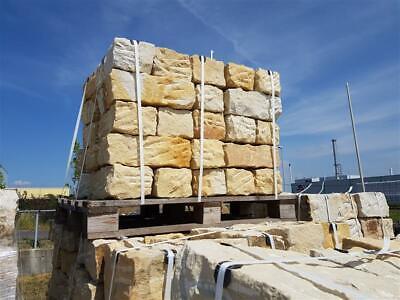 1 Palette Mauersteine aus Muschelkalkstein Sandstein Naturstein 18x18x38cm