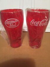 NEW American Idol Coca Cola Tumblers Red 20 OZ Plastic Glasses Lot of 3 Cups