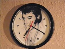"ELVIS PRESLEY     THE KING   QUARTZ WALL CLOCK 8.5 "" inch"
