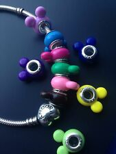 11x Colorful Mickey Mouse inspired European Bracelet Charms Beads Minnie Bears